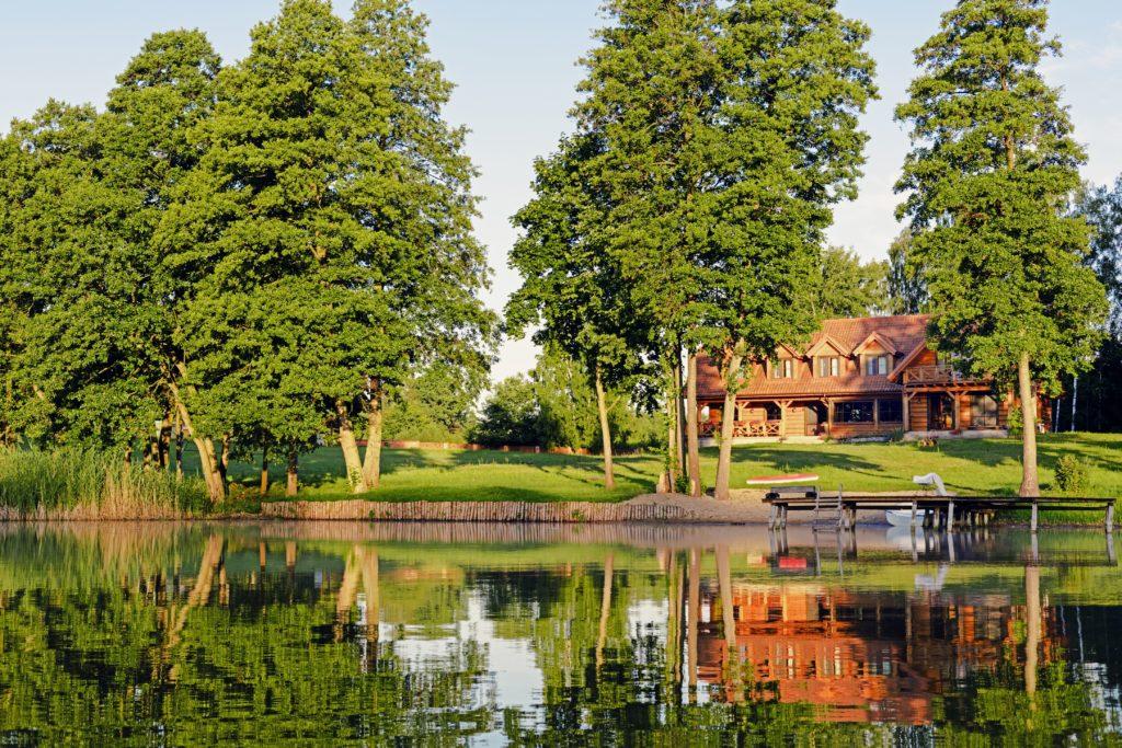 Lawendowy Winiec od jeziora