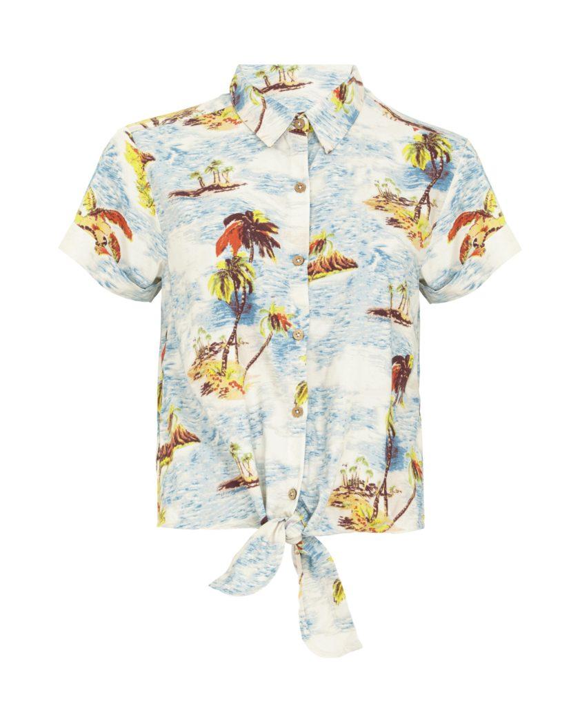 TK_Maxx_Kolorowa wiązana koszula z wzorem w palmy_129.99zł