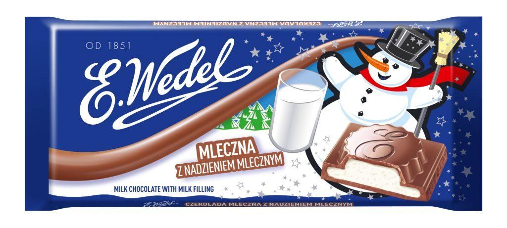 WEDEL_Czekolada mleczna z nadzieniem mlecznym 100g